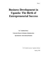 Business Development in Uganda: The Birth of Entrepreneurial Success