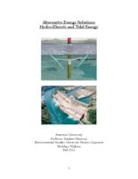 Alternative Energy Solutions: Hydro-Electric and Tidal Energy