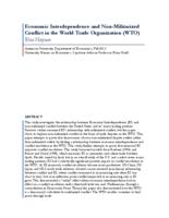 Economic Interdependence and Non-Militarized Conflict in the World Trade Organization (WTO)