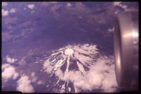 Aerial view of volcano in Chile