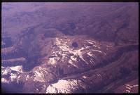 Aerial view of Andes from airplane