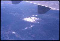 Aerial view of volcano during flight to Punta Arenas