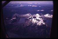 Aerial view of Tierra del Fuego from airplane