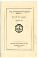 11th Commencement Program, American University, Spring 1925