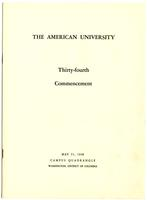 34th Commencement Program, American University, Spring 1948
