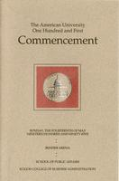 101st Commencement Program, School of Public Affairs and Kogod School of Business, Spring 1995
