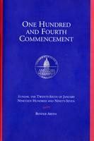104th Commencement Program, American University, Winter 1997