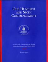 106th Commencement Program, American University, Winter 1998