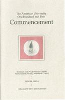 101st Commencement Program, College of Arts and Sciences, Spring 1995