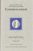 103rd Commencement Program, School of Public Affairs and Kogod School of Business, Spring 1996