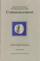 103rd Commencement Program, College of Arts and Sciences, Spring 1996