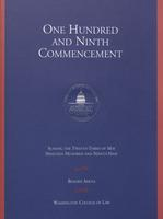 109th Commencement Program, Washington College of Law, Spring 1999