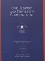 113th Commencement Program, School of Public Affairs and Kogod School of Business, Spring 2001