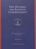 111th Commencement Program, College of Arts and Sciences, Spring 2000