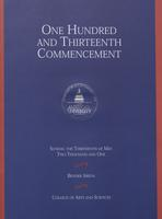 113th Commencement Program, College of Arts and Sciences, Spring 2001