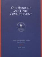 110th Commencement Program, American University, Winter 2000