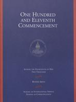 111th Commencement Program, School of International Service and School of Communication, Spring 2000