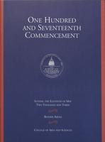 117th Commencement Program, College of Arts and Sciences, Spring 2003