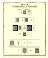 Antigua stamp issues album, 1862-1974