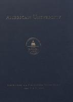 125th Commencement Program, American University, Spring 2011