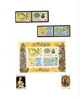 Antigua stamp pages, 1975-1988