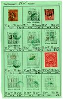Antigua stamp sales book, undated
