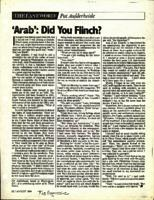 The Last Word: 'Arab': Did you flinch?