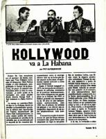 Hollywood va a La Habana