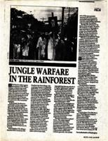 Jungle warfare in the rainforest