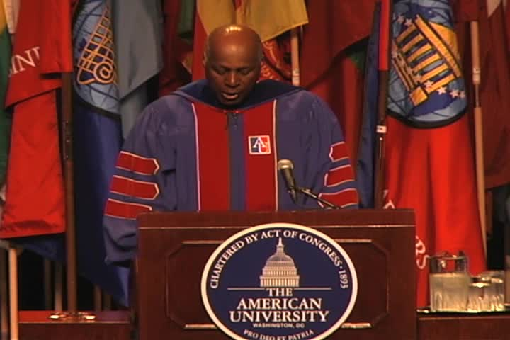Vernon E. Jordan Jr. Commencement Address, 122nd Commencement, School of Public Affairs and Kogod School of Business, Spring 2008