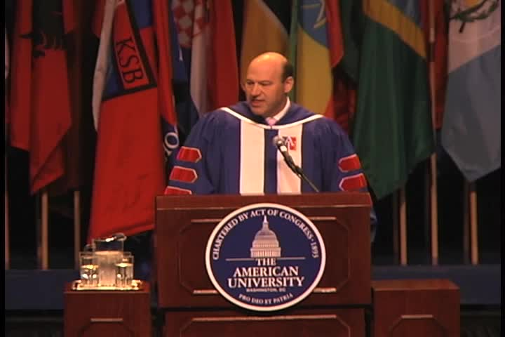 Gary Cohn Commencement Address, 123rd Commencement, Kogod School of Business, Spring 2009