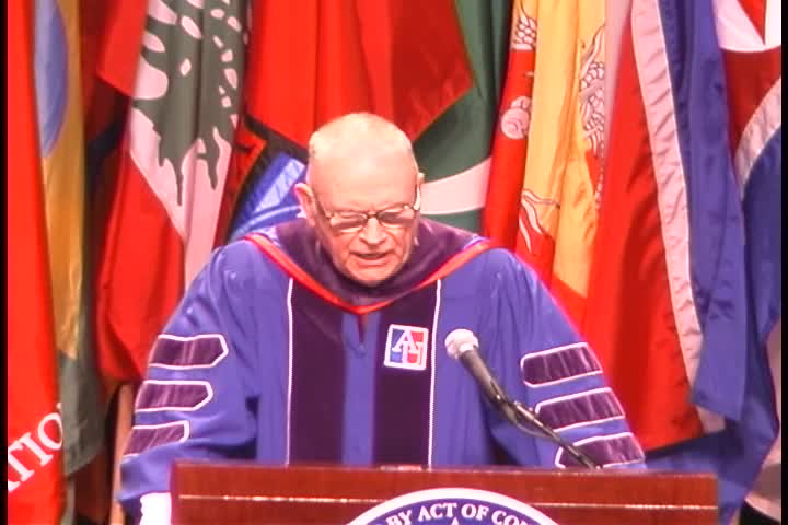 Lee Hamilton Commencement Address, 118th Commencement, School of Public Affairs and School of International Service, Spring 2004