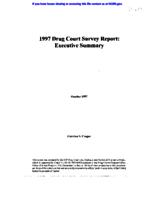 1997 Drug Court Survey Report