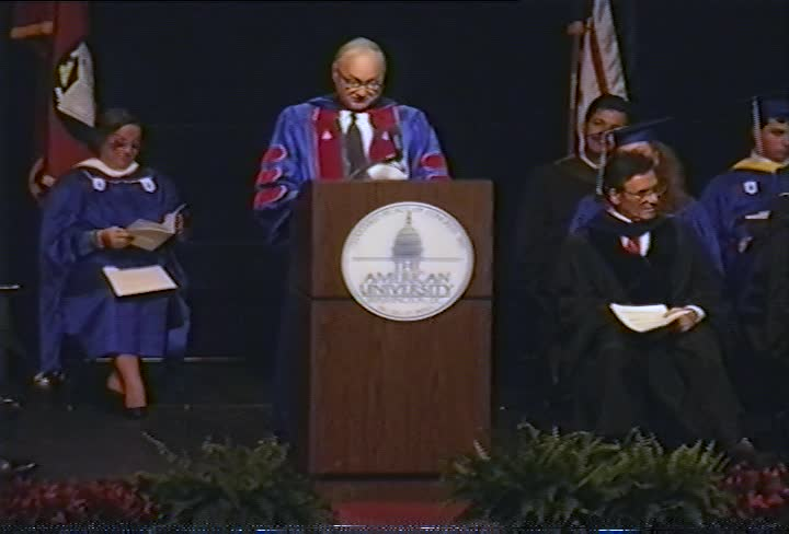 Maurice Strong Commencement Address, 95th Commencement, School of Public Affairs and School of International Service, Spring 1992