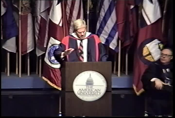 James H. Billington Commencement Address, 100th Commencement, American University, Winter 1995