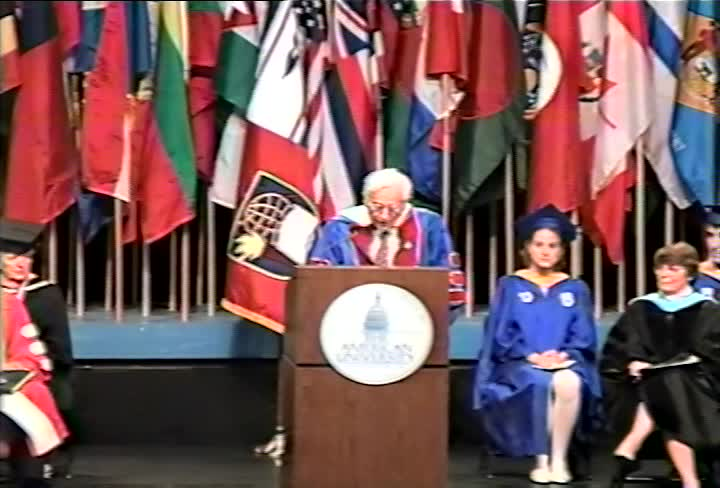 Alfred Kazin Commencement Address, 101st Commencement, College of Arts and Sciences, Spring 1995