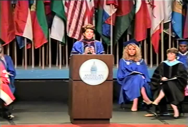Laura D'Andrea Tyson Commencement Address, 101st Commencement, School of Public Affairs and Kogod School of Business, Spring 1995