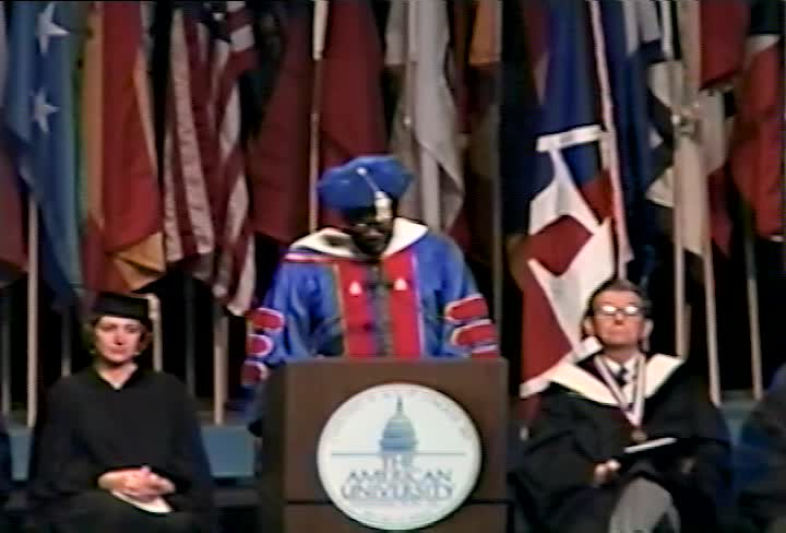 Sam Gilliam Commencement Address, 103rd Commencement, College of Arts and Sciences, Spring 1996