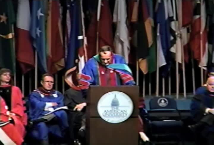 Michael Armacost Commencement Address, 103rd Commencement, School of International Services and School of Communication, Spring 1996