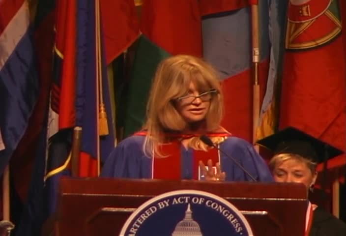 Goldie Hawn Commencement Address, 115th Commencement, College of Arts and Sciences, Spring 2002