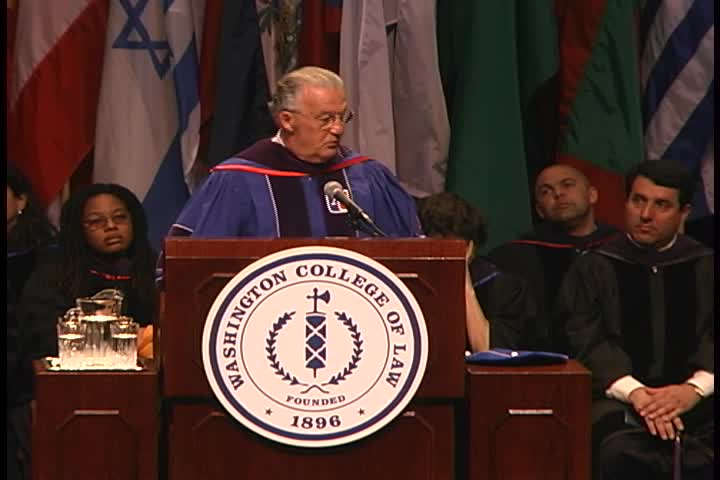 Honorable Paul S. Sarbanes Commencement Address, 119th Commencement, Washington College of Law, Spring 2005