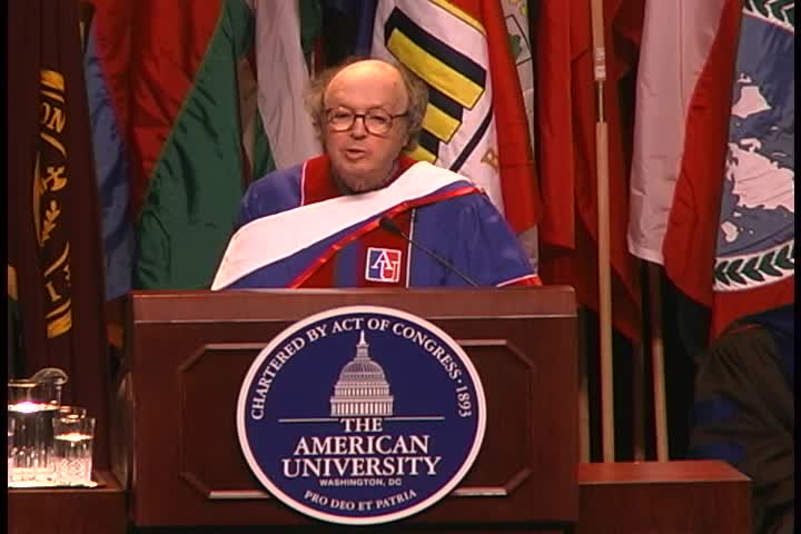 Anthony Lewis Commencement Address, 114th Commencement, American University, Winter 2002