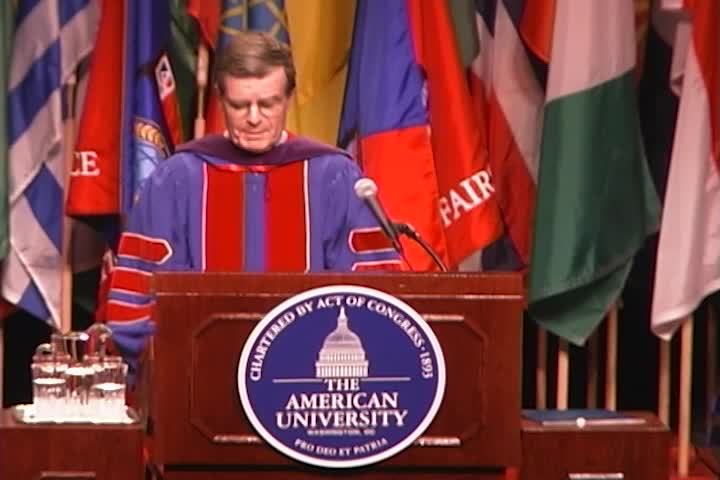 Theodore C. Sorenson Commencement Address, 117th Commencement, School of Public Affairs and School of International Service, Spring 2003