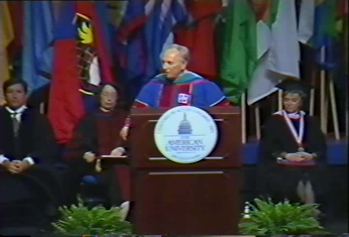 Shimon Peres Commencement Address, 107th Commencement, College of Arts and Sciences, Spring 1998