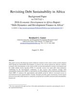 Revisiting Debt Sustainability in Africa