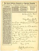 Letter to from W. F. Mallalieu, 3 April 1907