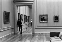 Alternate view of a security guard in an exhibition room in the National Gallery of Art, Washington, D.C.