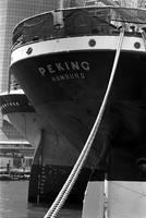 Alternate view of the hull of the Peking at the South Street Seaport Museum, New York, New York