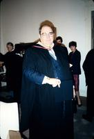 William Agee, Vice President, Finance stands in regalia at American University, Washington, D.C.