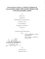 INTERGROUP SOCIAL CONTACT THROUGH PEACE EDUCATION: THE NANSEN MODEL FOR INTEGRATED EDUCATION